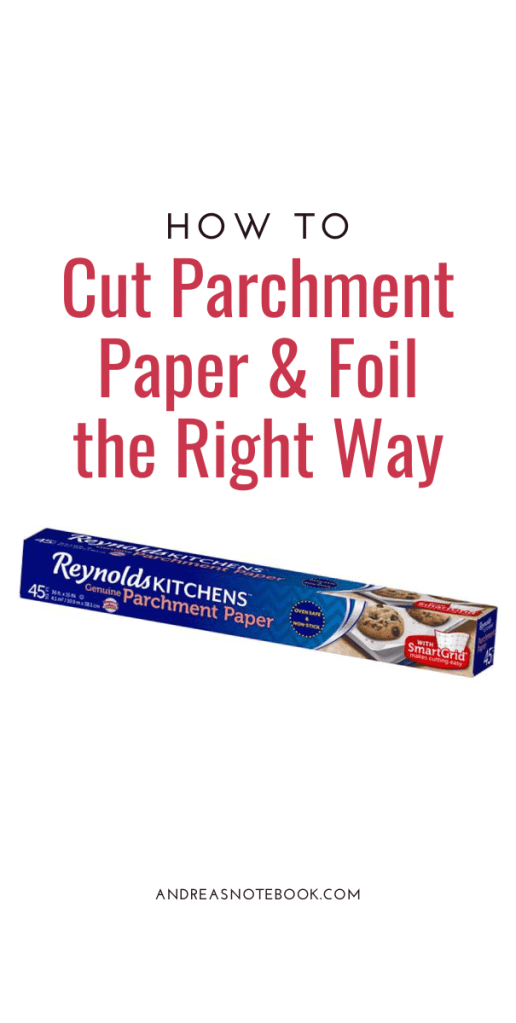 how to cut parchment paper the right way - image of parchment paper box