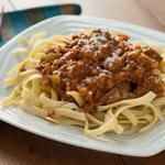 Creamy Italian Three Meat Sauce with Fettucine - Andrea Meyers