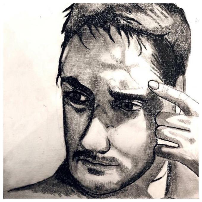 Porträtt Skiss Rita Måla Art Konst Målning