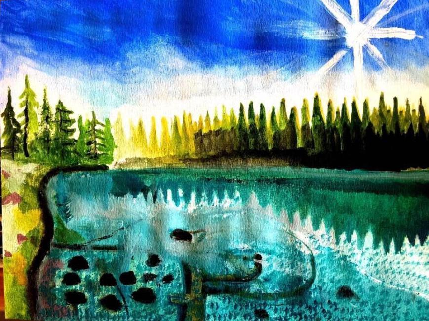 Gästrikland, Hälsingland, Härjedalen, Jämtland, Medelpad, Ångermanland, Västerbotten, Norrbotten och Lappland. Konst Akrylmålning Natur Andreas Rörqvist