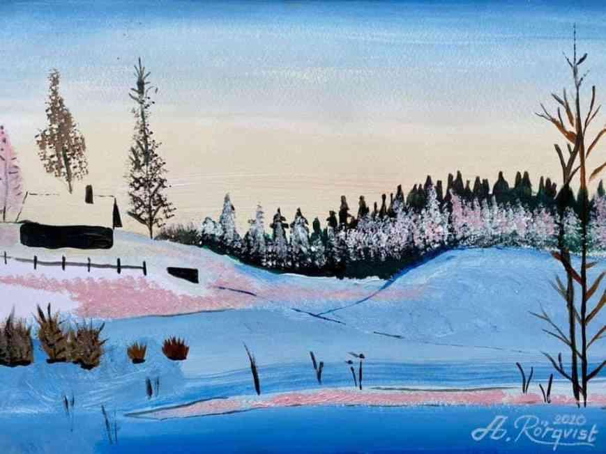 Konstnär Andreas Rörqvist Art Akrylfärg Konst
