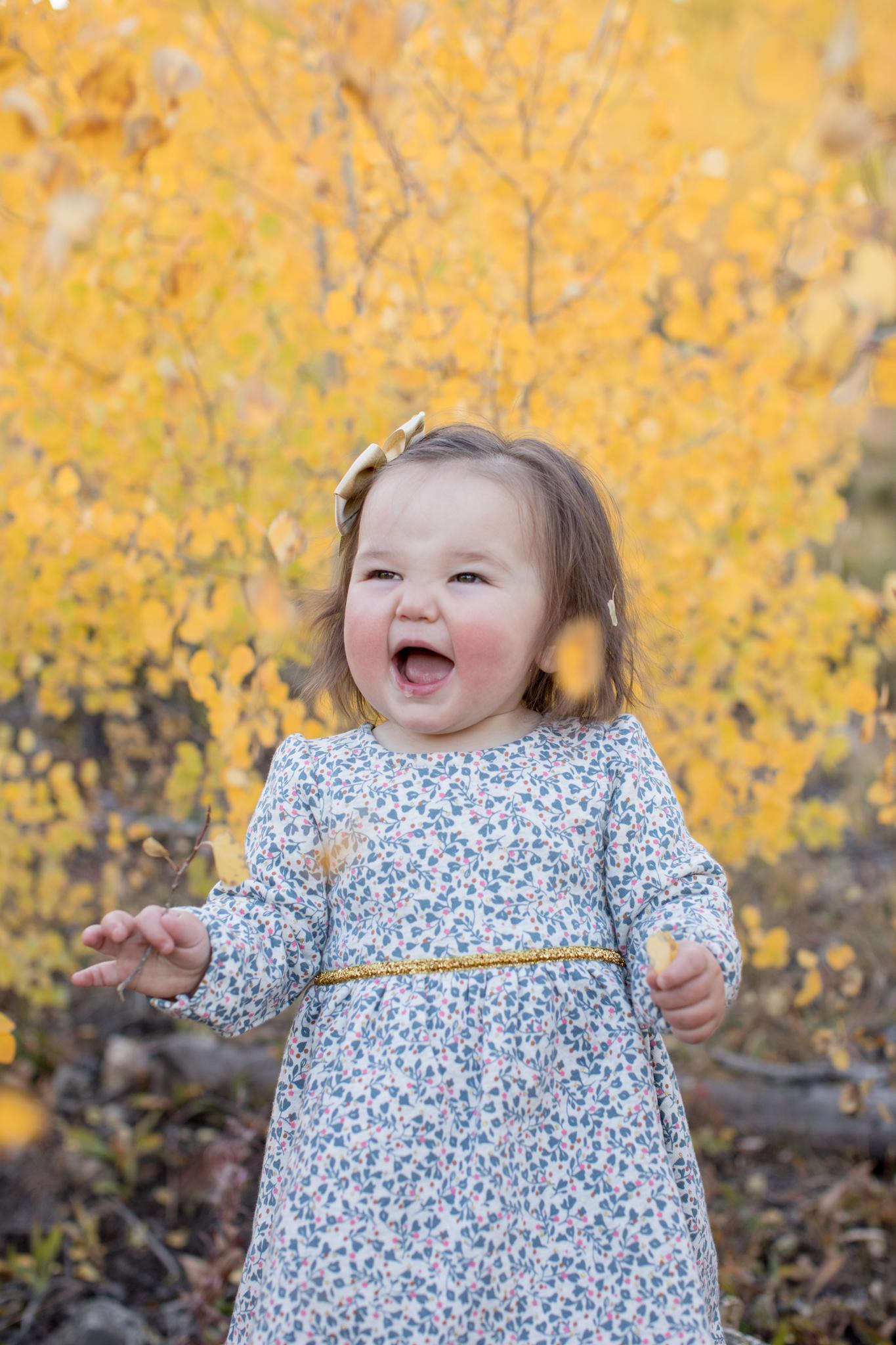 Hutton Fall Breckenridge Family Photography