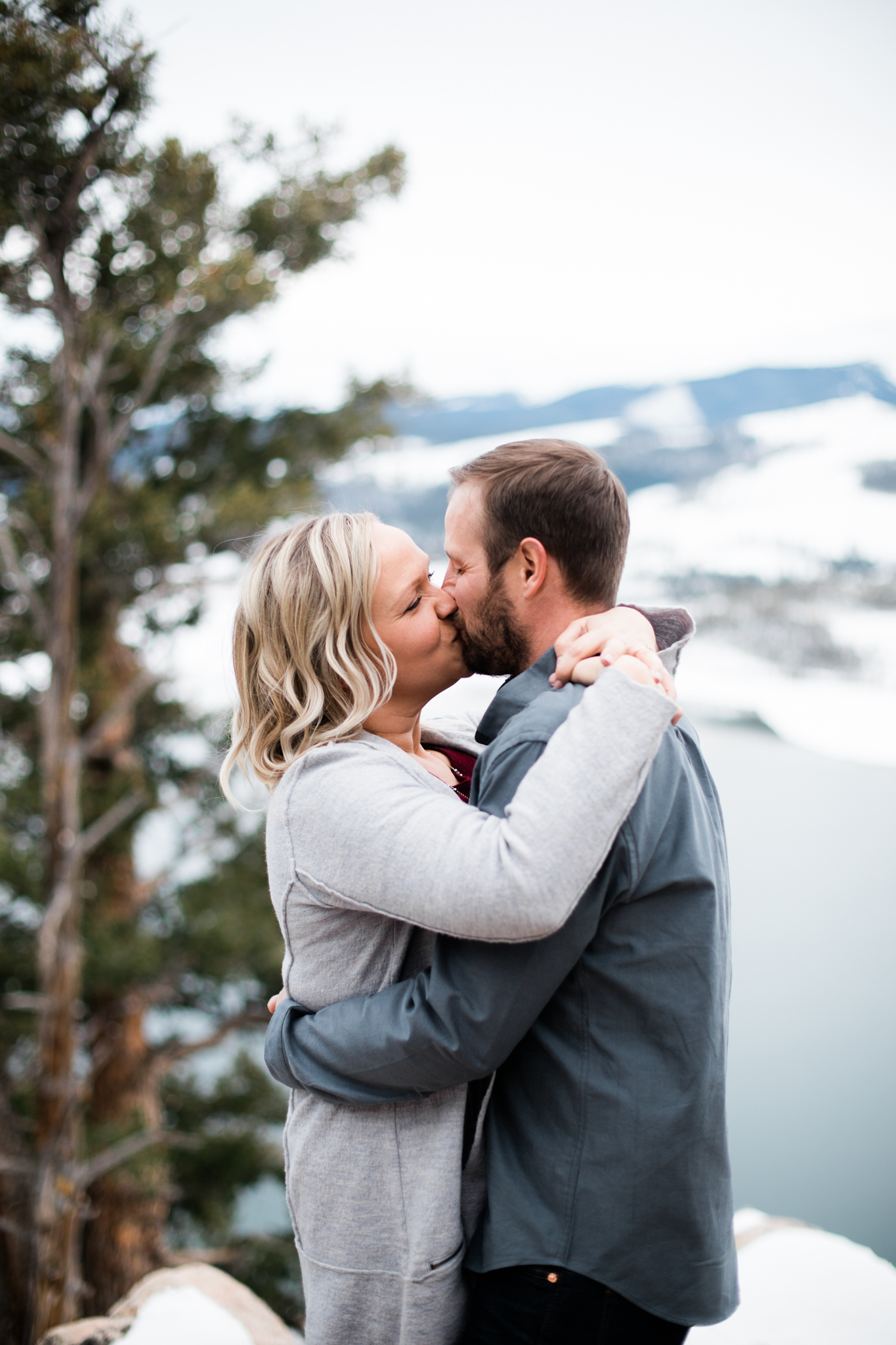 Lake Dillon Colorado Winter Engagement Session