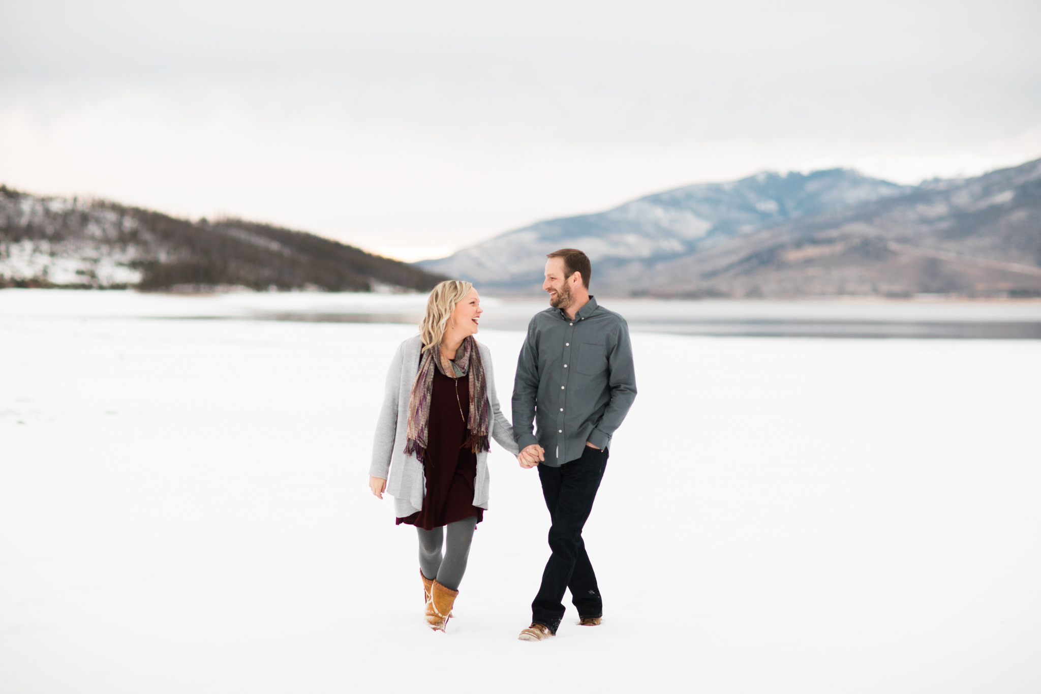 Lake Dillon Colorado Winter Engagement Session 24