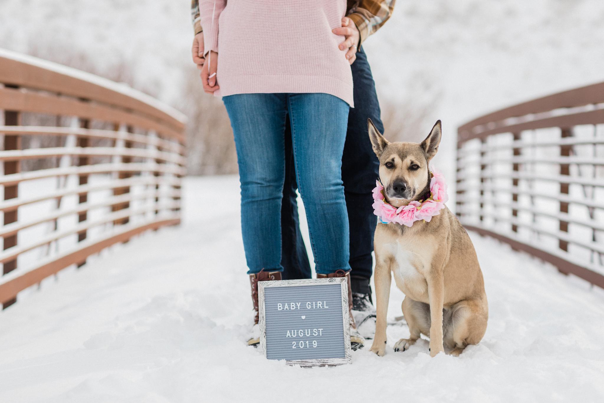 pregnancy announcement baby girl Breckenridge