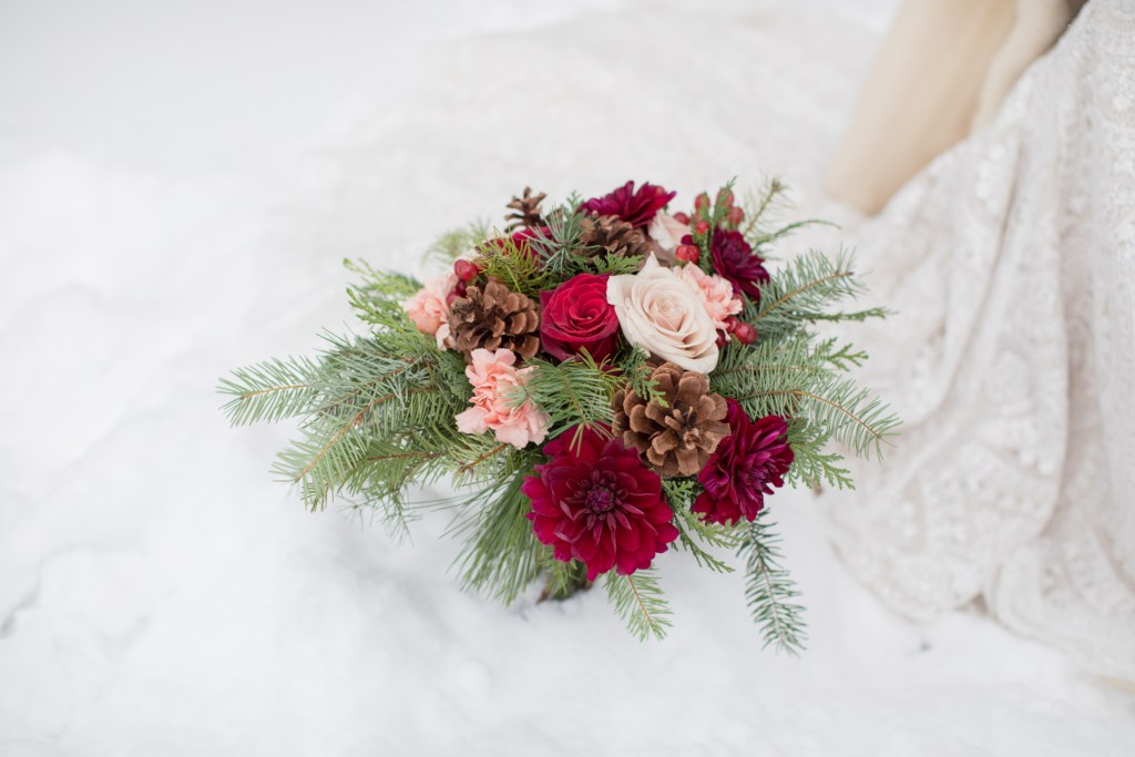 Lodge at Breckenridge Winter Wedding Bouquet