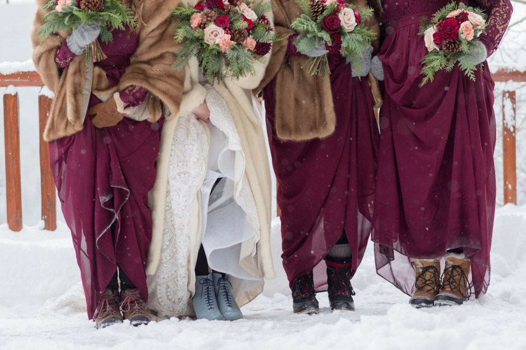 winter wedding details breckenridge