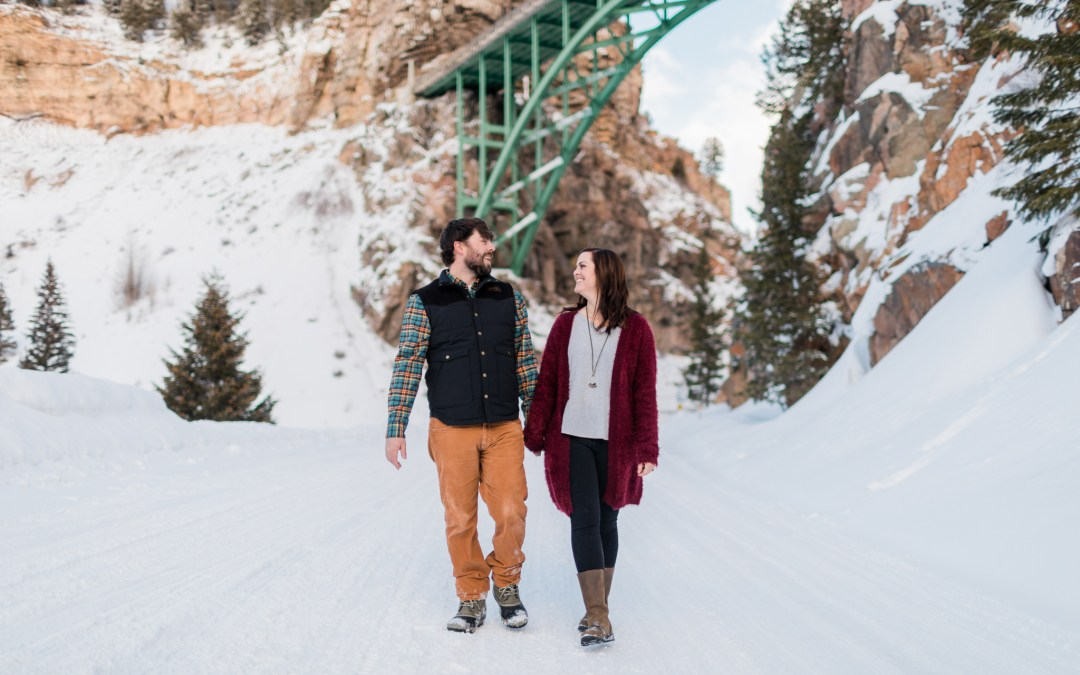 Colorado Winter Engagement Photo Session in Red Cliff