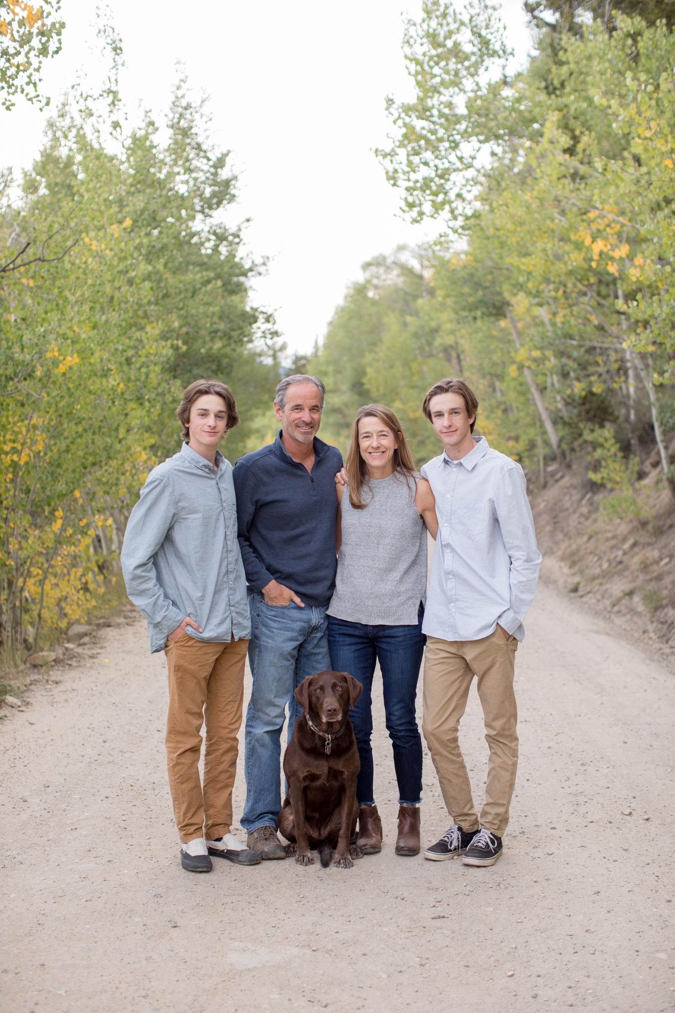 Thebeau Family Portrait Session Breckenridge