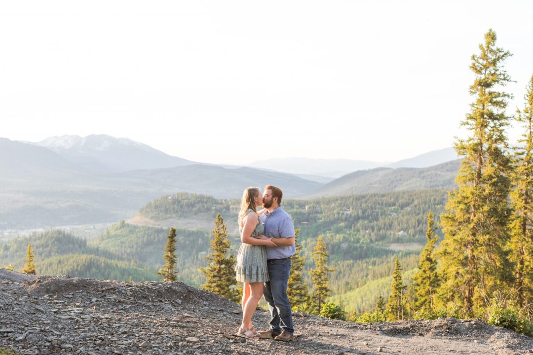 Engagement Photography in Breckenridge Colorado with a mountain backdrop
