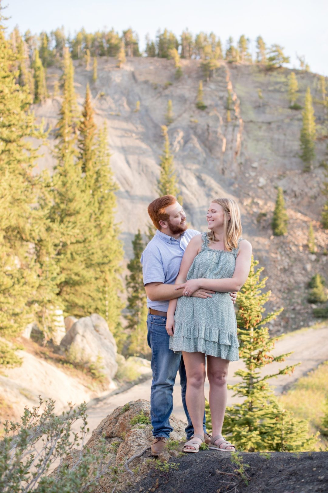 Breckenridge Engagement Photography Session with a Mountain Backdrop