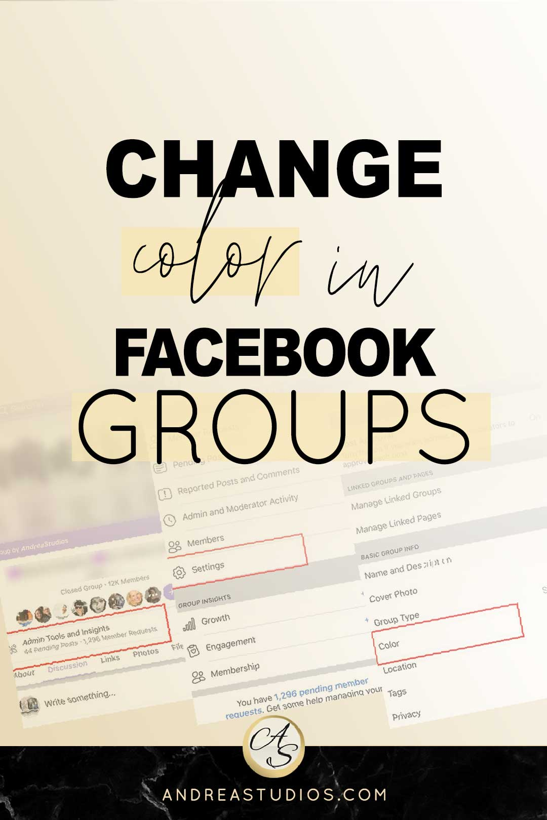 change color in facebook groups