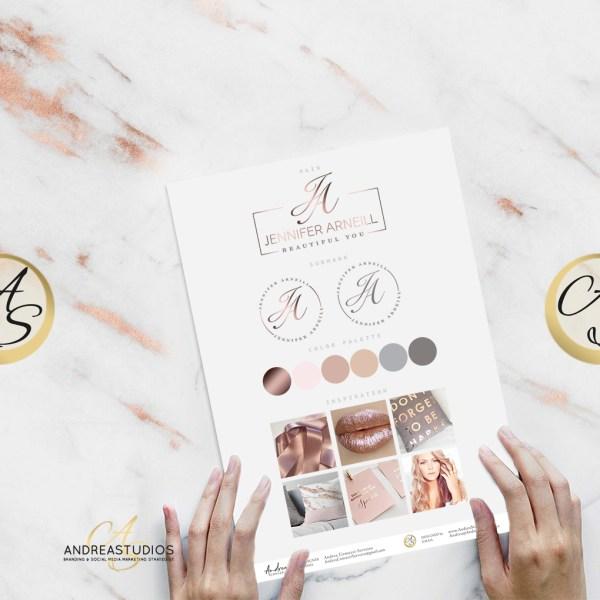AndreaStudios Feminine Logo Design and Branding Style Guide