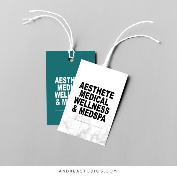 Tag Design and Printing for Aesthete Medspa