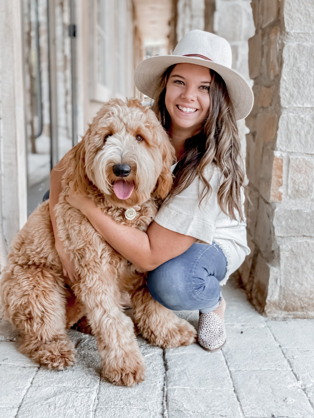 Andrea_Vowels_with_Golden_Doodle_Maple