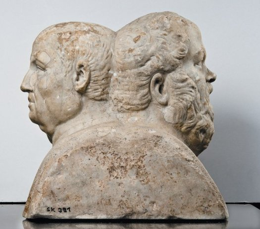 Roman double herm of Seneca and Socrates, third century AD