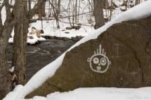 Graffiti bord de riviere