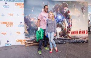 Cabral si Andreea Ibacka la Avanpremiera Iron Man 3