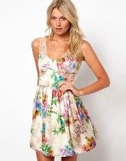 Floral Print rochie Love - 25 euro