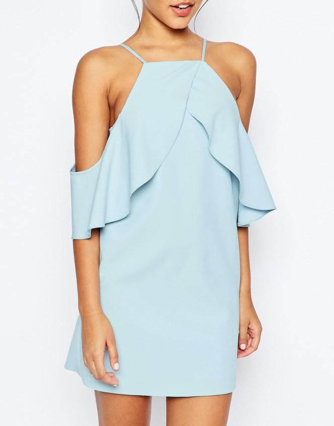 ASOS Cold Shoulder Ruffle Crepe Mini Dress €77.46
