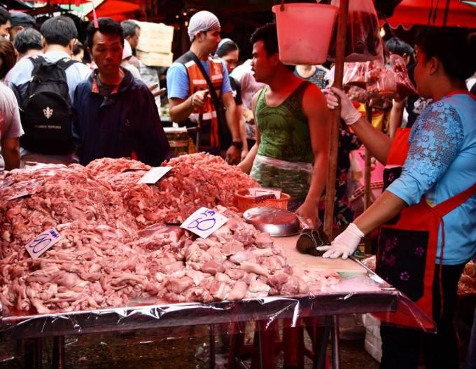 Khlong Toei Bangkok Thailand market