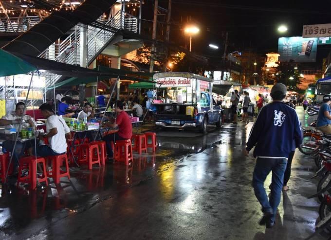 Kanchanaburi, Thailand, night market, food