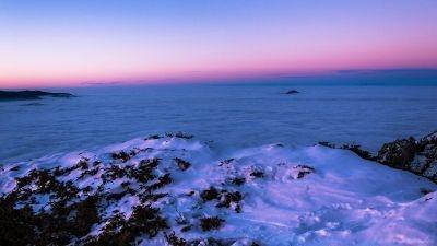 Deasupra mării. Traversarea de iarnă a Bucegilor