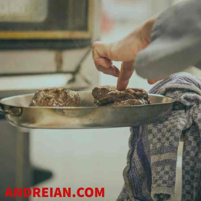 searing steak | Andreian