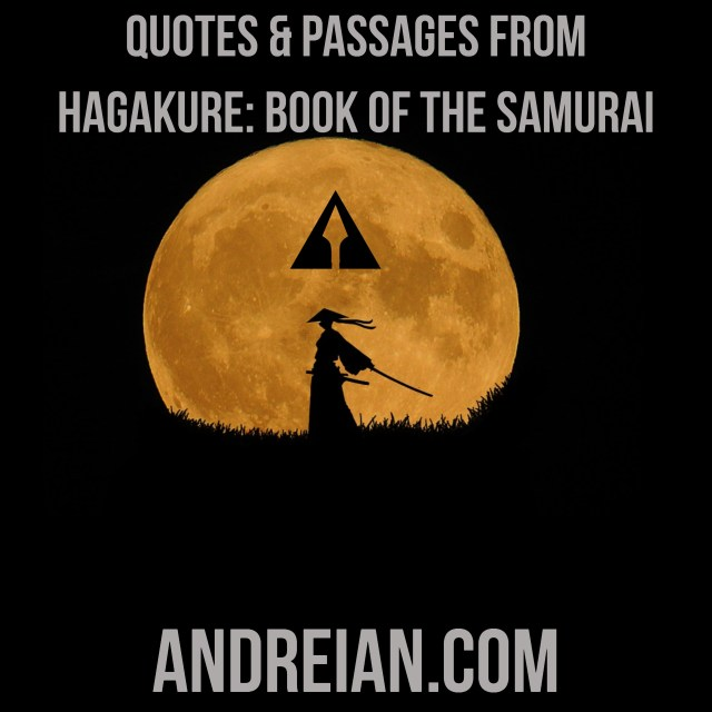quotes and passages from hagakure-book of the samurai