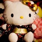 Hello Kitty wearing a kimono