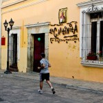 morning jogger in colonial Oaxaca