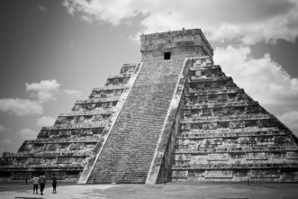 Chichen Itza in black and white