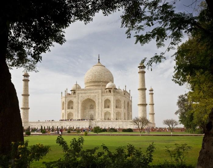 the beautiful Taj Mahal in Agra, India