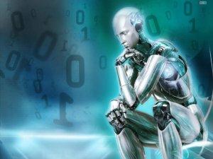 robot pensando