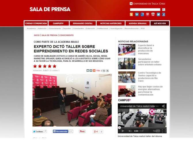 Experto Dictó Taller Sobre Emprendimiento en Redes Sociales