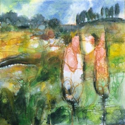 pigmenti on plaster on canvas - cm 70x70
