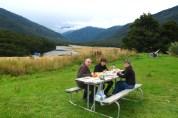 Pick-Nick al Haast Pass. Illa sud de Nova zelanda
