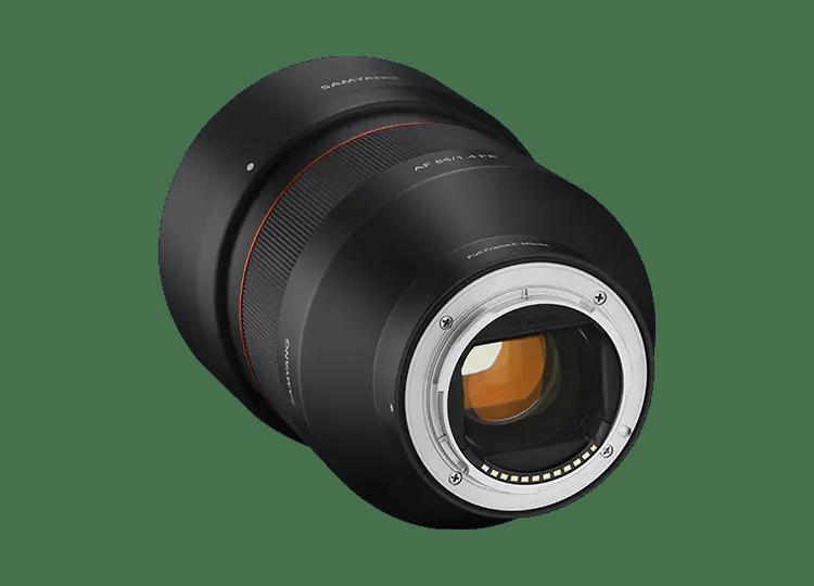Объектив Samyang AF 85mm F1.4 FE - вид сзади