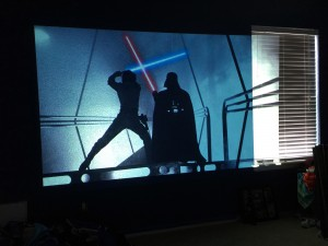 Star Wars Mural Projected on Wall