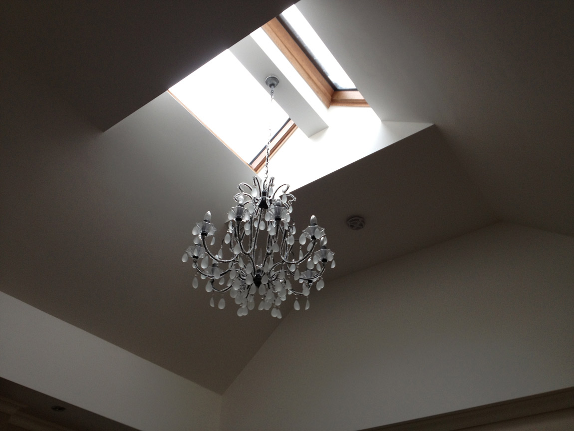 alterations to roof structure and installation of fixed glazed skylights