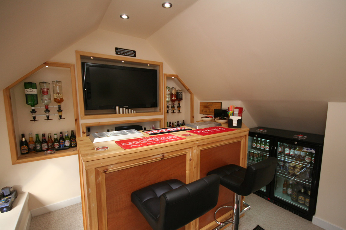 attic conversion to private bar