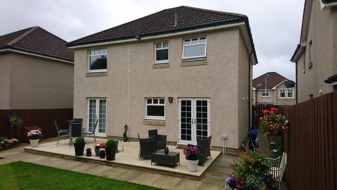 build up over kitchen door to window