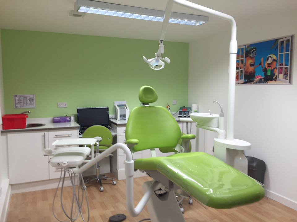 conversion of former office to new dental practice