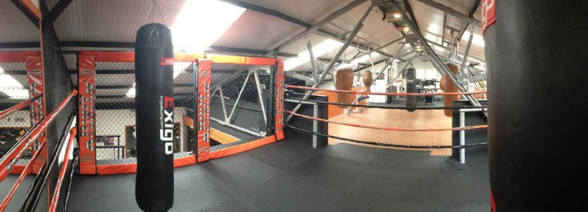 conversion of warehouse to gym and mma arena