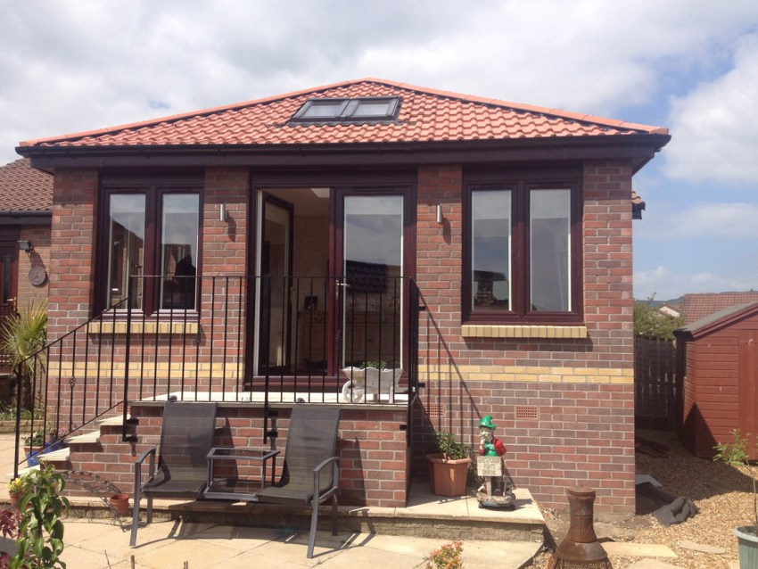 facing brick finish single storey extension
