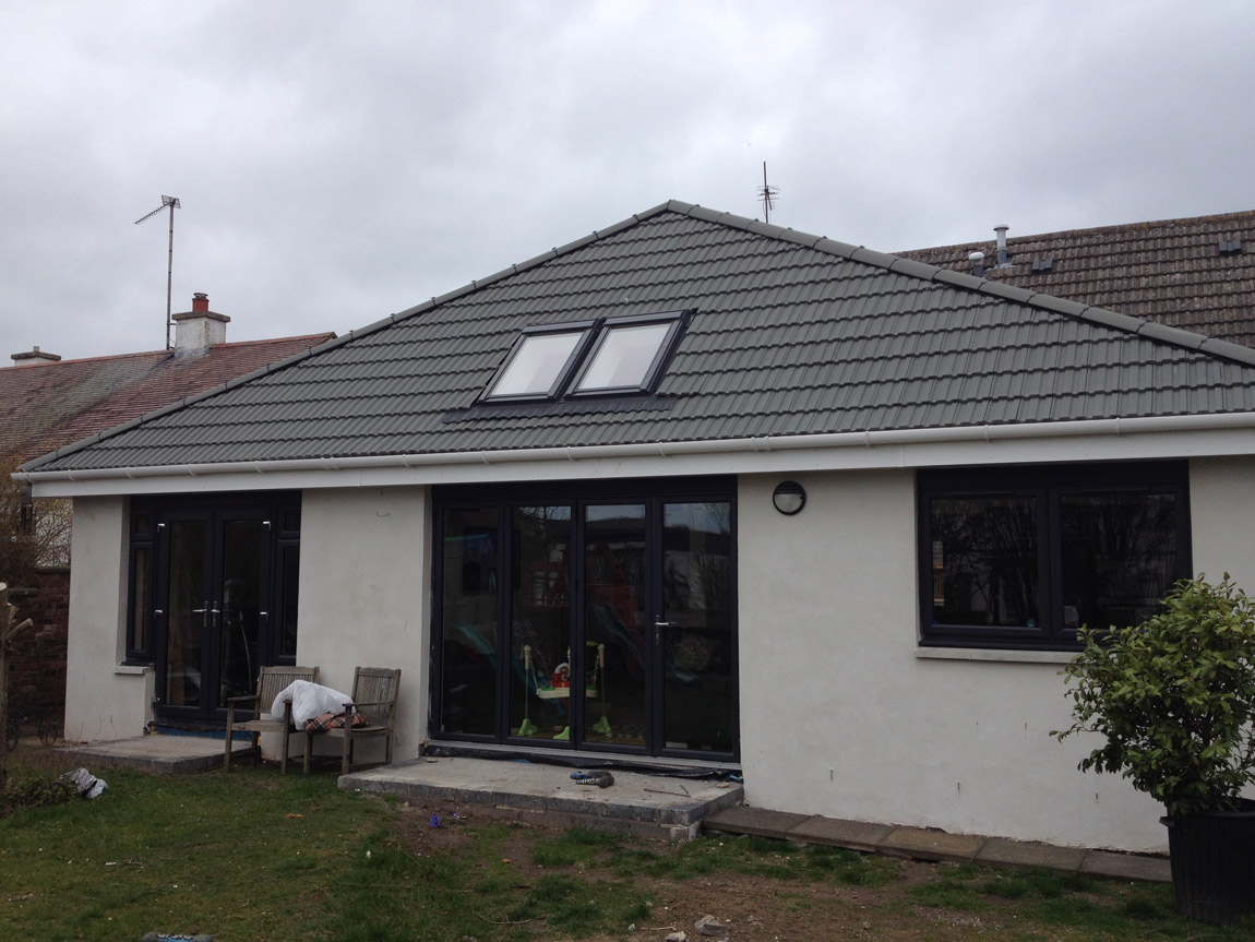 large extension to rear of dwelling with bi fold doors