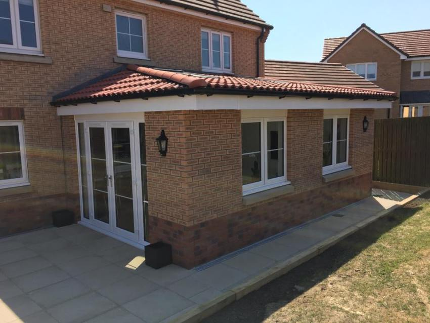 low pitch roof extension