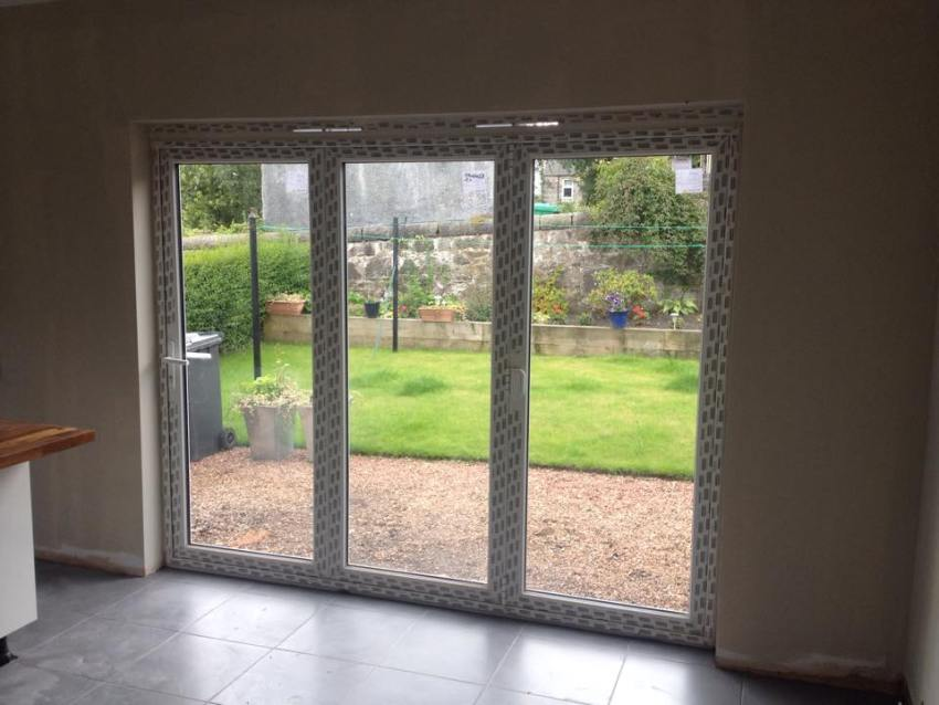 removal of externall wall and installation of bi-fold doors