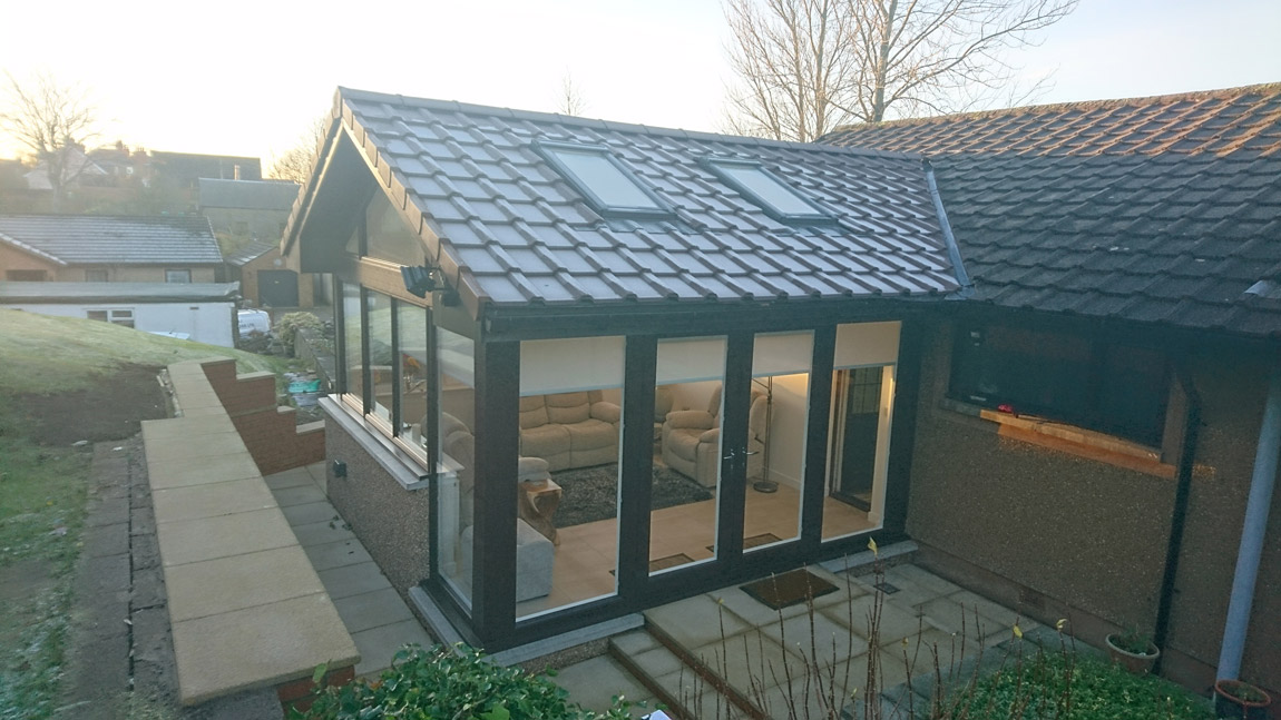 sunroom extension to rear of dwelling