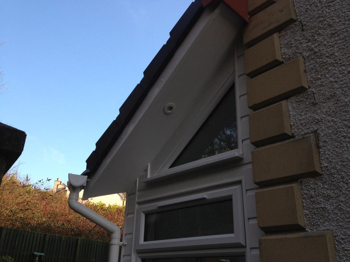 triangular shaped window